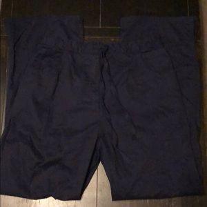 Healing Hands navy cotton scrub pants sz medium